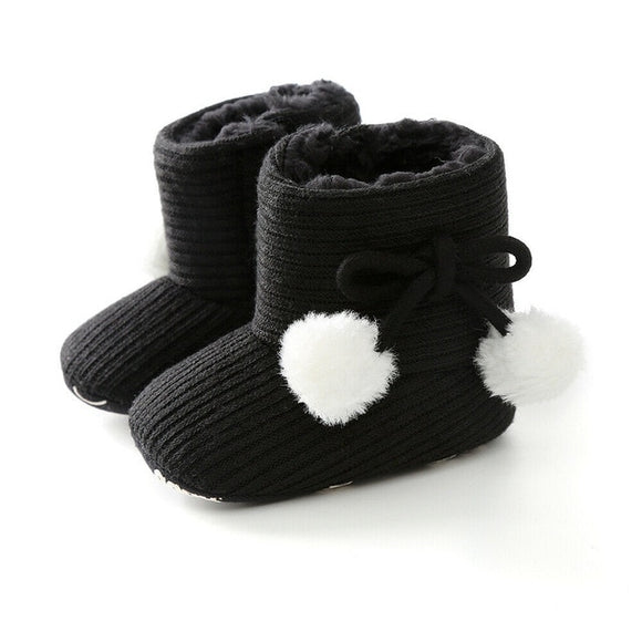 Ribbed Baby ugg boot - Black