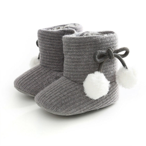 Ribbed Baby ugg boot - Grey