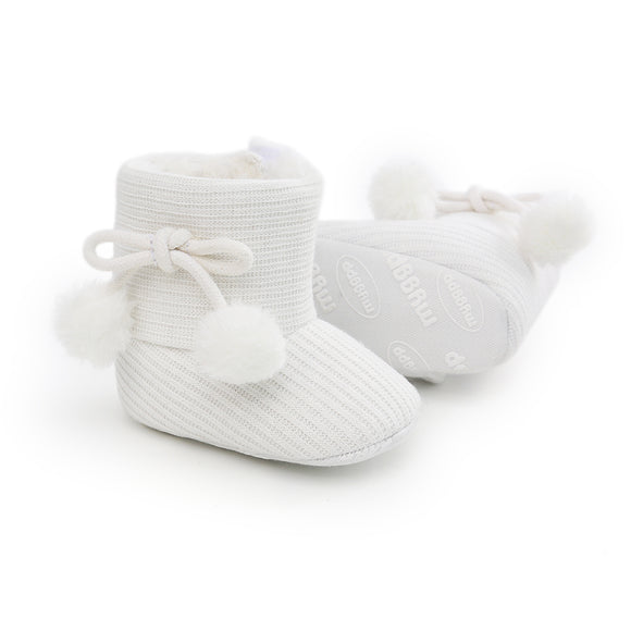 Ribbed Baby ugg boot - White