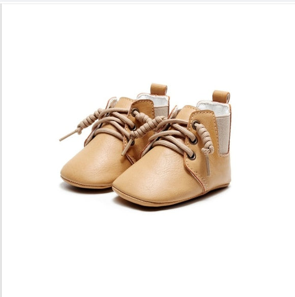 Baby Boot lace up pre walker - Beige