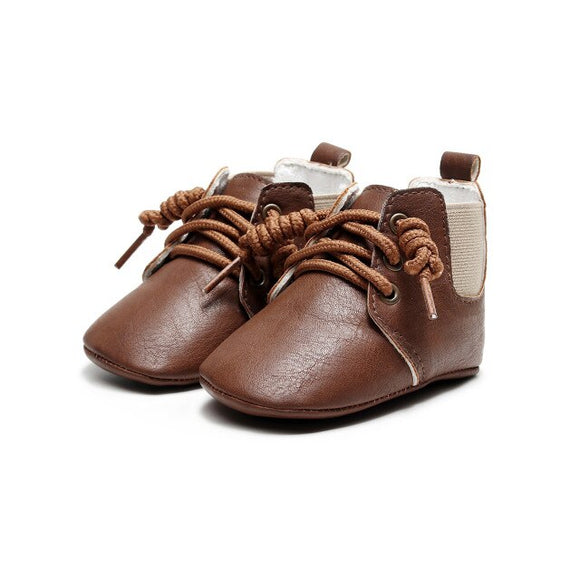 Baby Boot lace up pre walker - Brown