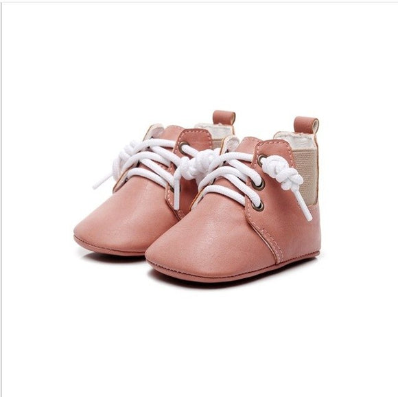 Baby Boot lace up pre walker - Pink