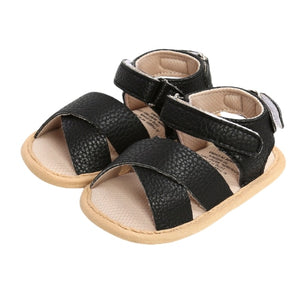 Cross strap sandal - Black