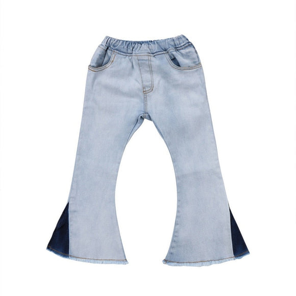 Denim Flare Jeans - Light Wash - nixonscloset