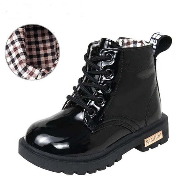 Patent Mini Boots - Black - nixonscloset