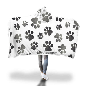 Dog Paws Hooded Blanket