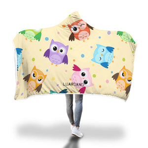 Cute Owls Hooded Blanket