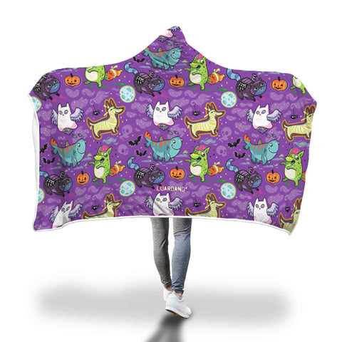 Halloween Mummy Dog Hooded Blanket
