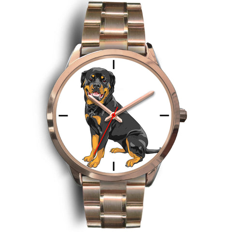 Rottweiler Rose Gold Metal Link