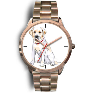 Labrador Retriever Rose Gold Metal Link