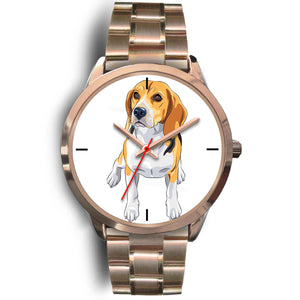 Beagle Rose Gold Metal Link