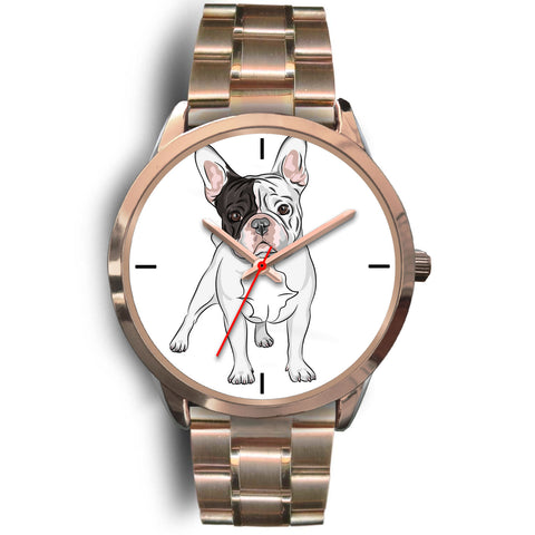 French Bulldog Rose Gold Metal Link