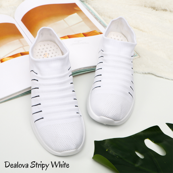 Dealova Stripy White