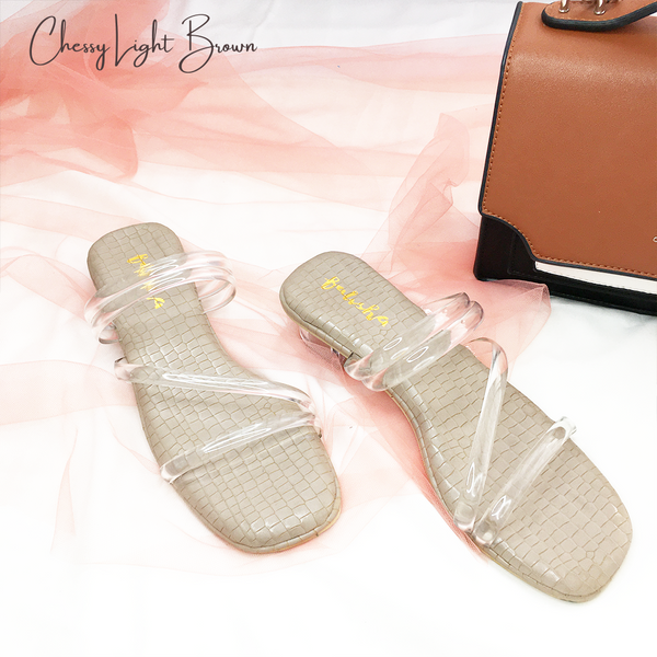 Chessy Heels - Light Brown