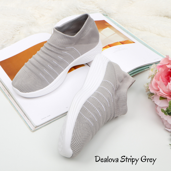 Dealova Stripy Grey