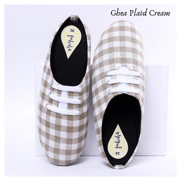 Ghea Plaid Cream