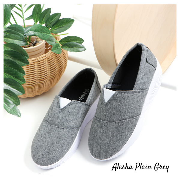 Alesha Plain Grey