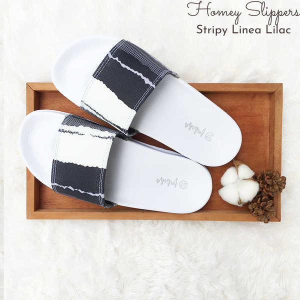 Homey Slippers - Linea Lilac