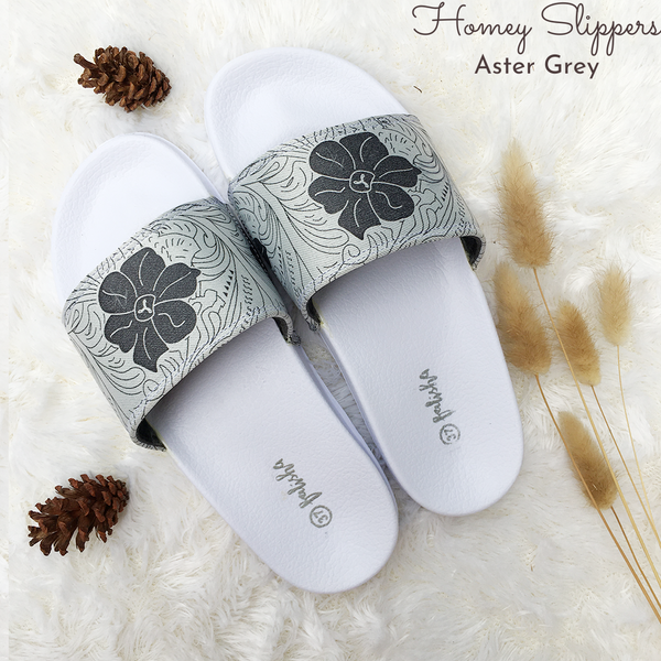 Homey Slippers - Aster Grey