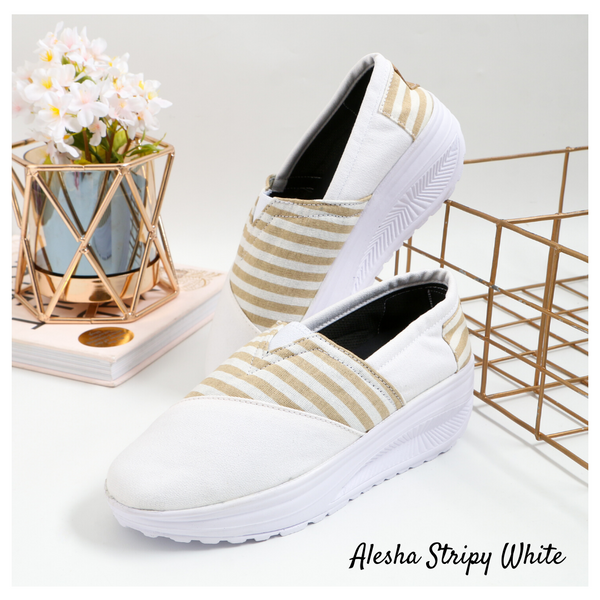 Alesha Stripy White