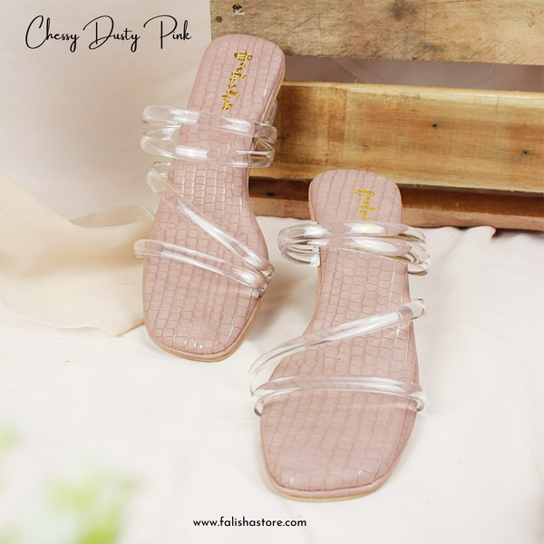 Chessy Heels - Dusty Pink