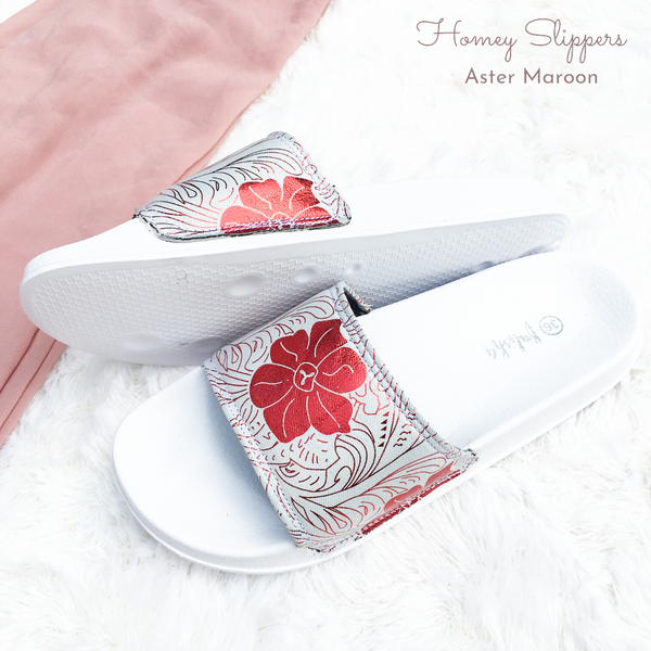Homey Slippers - Aster Maroon