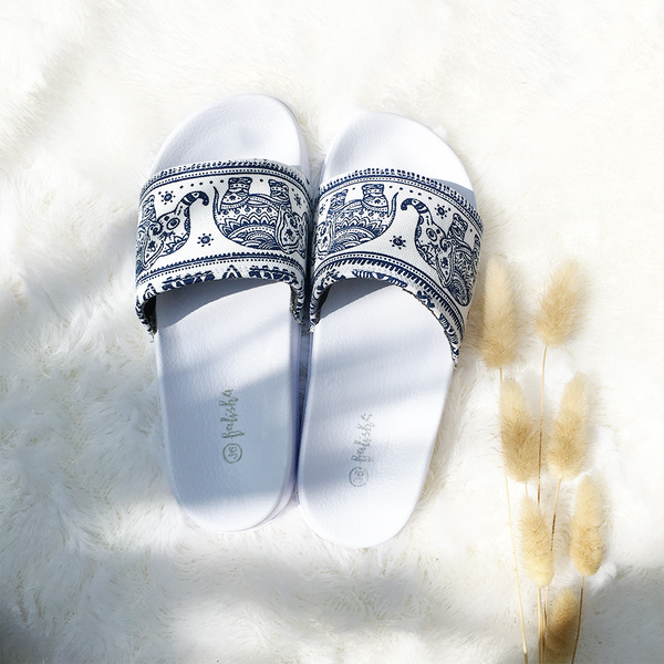 Homey Slippers - Triby Blue