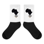 #ThePlanetAfrika by TND - Black/White - Cushioned Crew Socks