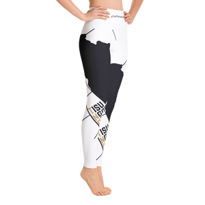 #ThePlanetAfrika by TND - White - Women's Yoga Leggings