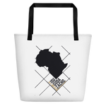 #ThePlanetAfrika by TND - White - Beach Bag