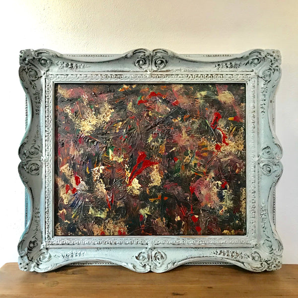 Abstract painting in Ornate Frame