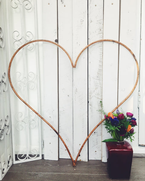 Large Reclaimed Iron Heart