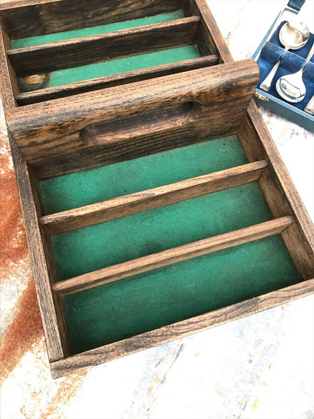 Cutlery Tray with Green Baize