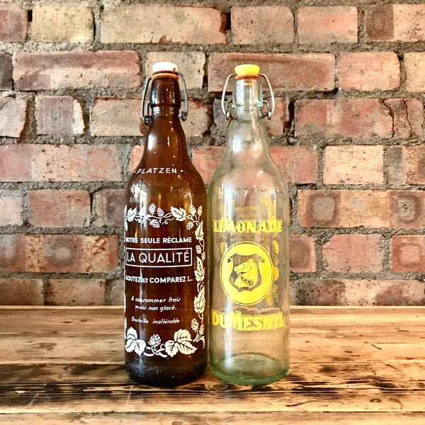 Vintage Lemonade Bottles - Set of Two