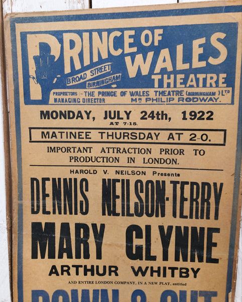 1920s Vintage Theatre Poster on Board