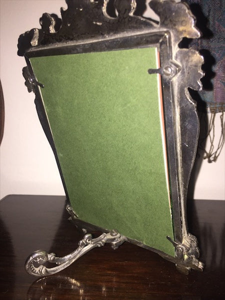 Small Antique Silver Dressing Table Mirror