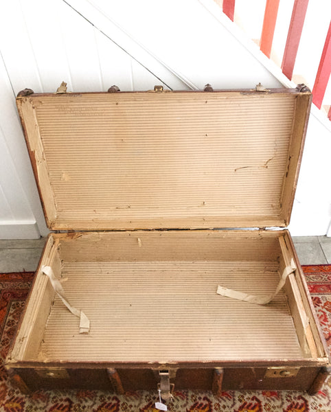 Very Large 1940s Steamer Trunk