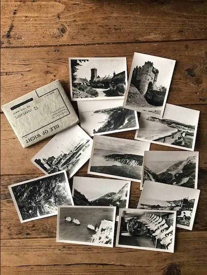 Set of vintage postcards of the Isle of Wight
