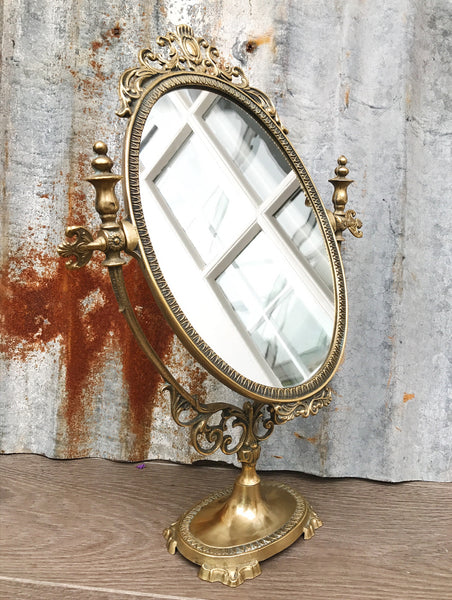 Gold Vintage Dressing Table Mirror