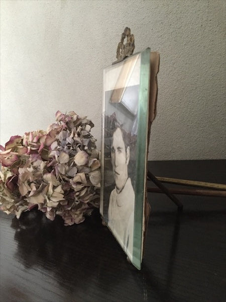 Antique French Spring Photo Frame