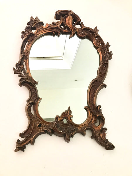 Vintage Giltwood Mirror in Rococo Style