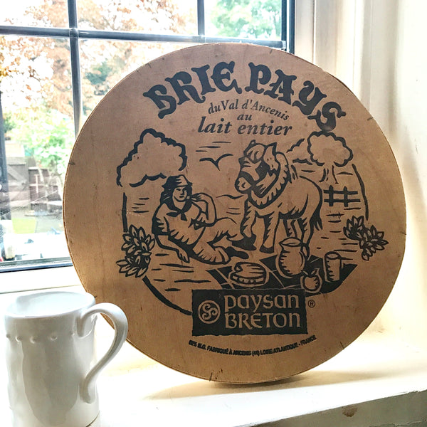 Large French Vintage Brie Box