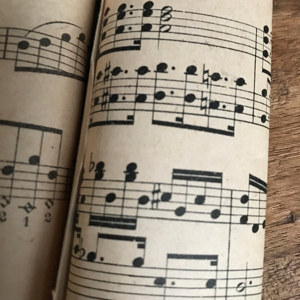 French Vintage Music Sheets  - Set of Three