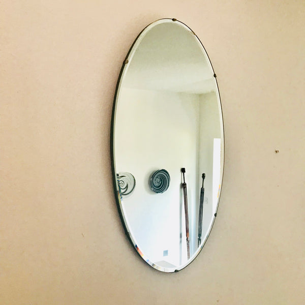 Oval Art Deco Mirror