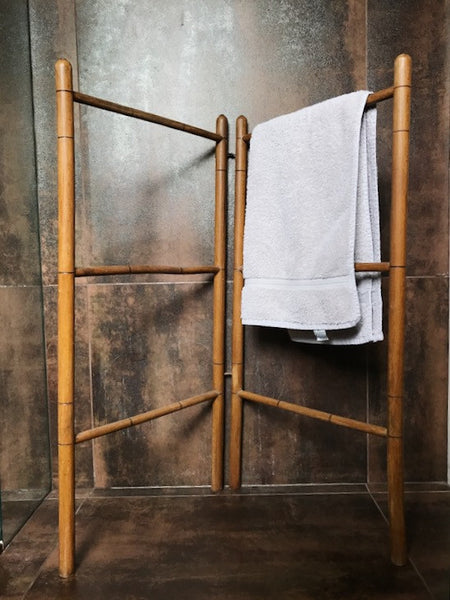 Vintage Wooden Towel Rack