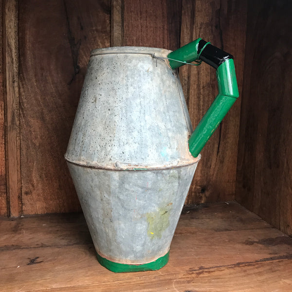 Vintage Puglian Tin Water Pitcher