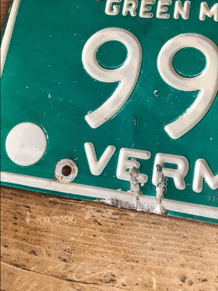1980s Vermont License Plate - Green Mountains