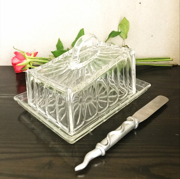 1930s Glass Butter/Cheese dish