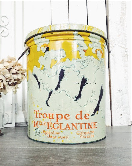 "Large ""Toulouse Latrec"" Tin by Bertels Can Co. for Sherry Wine and Spirits Co."