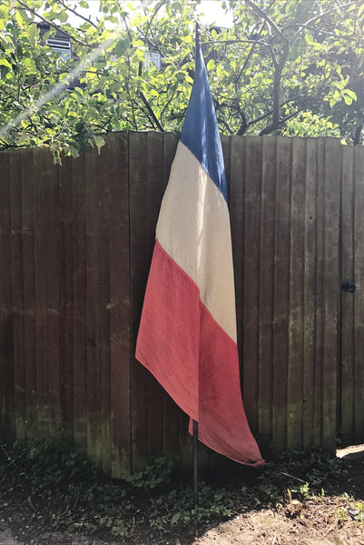 Huge 1940s French Ceremonial Flag